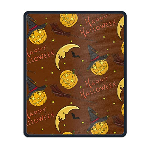 Gaming Mouse Pad Mat, Stitched Edges, Waterproof, Thick 3mm, 11.8 x 9.8 inch, Multicolor (Halloween Happy) ()