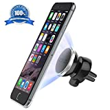Car Mount - Air Vent Magnetic Universal Car Holder For Apple iPhone 6 6 Plus, Samsung Galaxy S6 Edge S5 S4, Note 5 4 3, Mini Tablets - Easy One Touch Mount & Hexidyn Core - Lifetime Guarantee! (1 PACK )