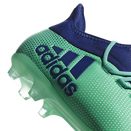 adidas X 17.2FG pavimento duro 42.7Stivale da adulto calcio–Scarpe da calcio, pavimento duro, Adulto, Uomo, suola con tasselli, Blu, Verde, Monótono