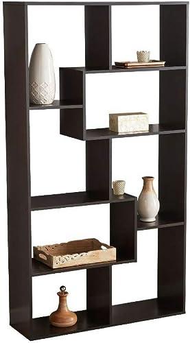 BS Open Shelf Bookcase Stylish Brown Freestanding Cube Shelving Unit