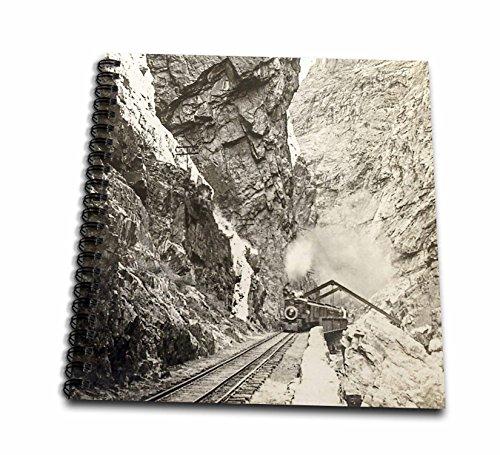 3dRose Royal Gorge Colorado Vintage Steam Train A Rollin Stereo View Wirebound Notebook (db_270025_2)