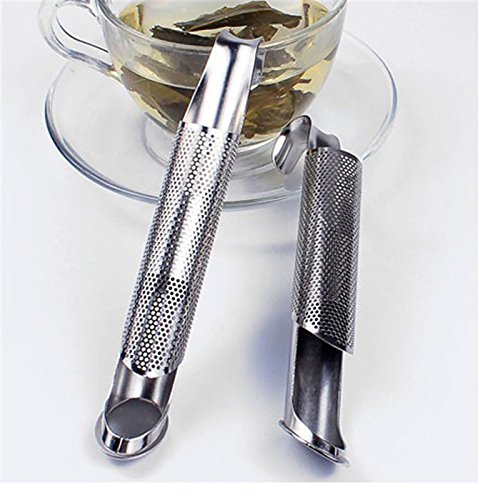 Funnytoday365 Tea Strainer Stainless Steel Tea Infuser Pipe Design Touch Feel Good Holder Tool Tea Spoon Infuser Filter by FunnyToday365 (Image #4)