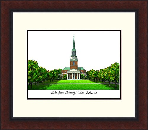 (Campus Images NC991LR Wake Forest University Legacy Alumnus Framed Lithographic Print)