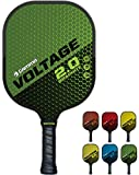 GAMMA Sports 2.0 Pickleball Paddles: Voltage 2.0 Pickleball Rackets - Textured Graphite Face - Mens and Womens Pickle Ball Racquet - Indoor and Outdoor Racket - Green Pickle-Ball Paddle - 7.6 oz