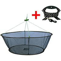 EASY BIG Fishing Nets Foldable Hand Casting Cage for...