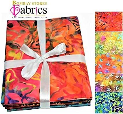 Batik BS-FAH-FPJ0130 Lot de 5 paquets de tissus pour loisirs créatifs 100% coton - COL 1