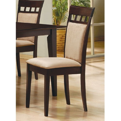 Amazon.com   7pc Contemporary Cappuccino Finish Solid Wood Dining Table  Chairs Set Oval   Table U0026 Chair Sets
