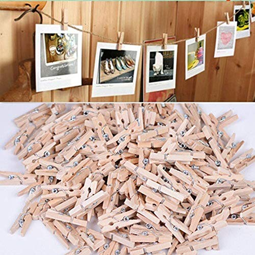 Clips Craft - 50x25mm Mini Natural Wooden Clothe Photo Paper Peg Clothespin Craft Clips - Dry Hook Shelf Holder Cloth Wooden Bathroom Toilet Photo Diy