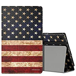 MoKo Case for All-New Amazon Fire HD 8 (2016 6th Generation) - Slim Folding Stand Cover with Auto Wake / Sleep for Fire HD 8 Tablet (6th Gen, 2016 release Only), US Flag
