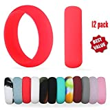 12 Pack Silicone Wedding Rings For Women, Premium Medical Grade Rubber Bands Antibacterial Wedding Band, Sports Gym Yoga Rubber Ring Comfortable Fit & Skin Safe,Best Value Ring Pack-Size 7