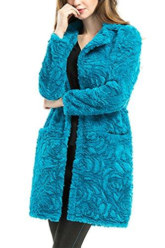 Manches longues à boutonnière simple Casual Long manteau femmes