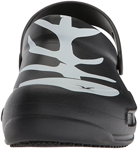 Black White Graphic Unisex Bistro Crocs Black qfUtzng7g