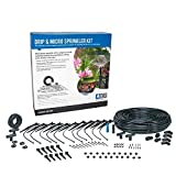 DIG 700 Sq. Ft. Coverage Easy to Install Automatic Lawn Watering Drip Irrigation and Micro Sprinkler System Kit (124 Pieces Including Instruction)