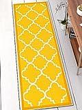 Well Woven 65112 Kings Court Brooklyn Trellis Modern Gold Geometric Lattice 2' x 7' Runner Indoor/Outdoor Area Rug