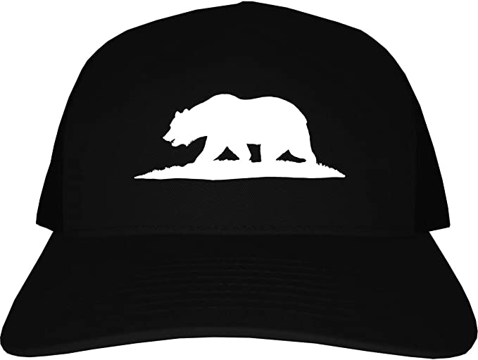 Black California Republic hat CA Bear Logo Snapback Curved bill Baseball cap