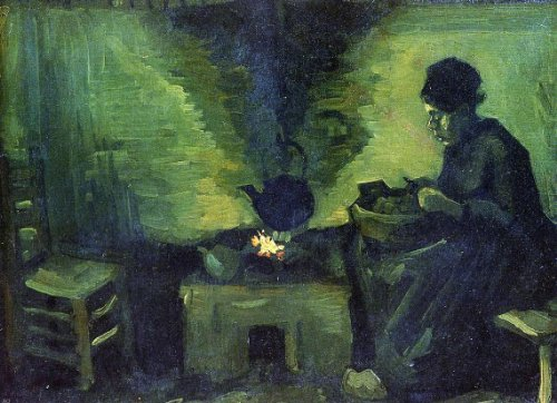 Vincent Fireplace - Vincent Van Gogh Peasant Woman by the Fireplace - 18.05