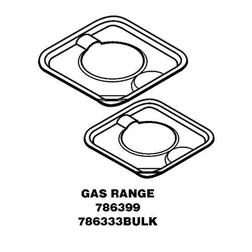 whirlpool range drip pans - 8