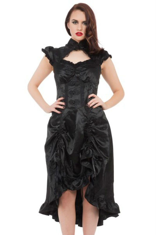 Jawbreaker Gothic Victorian Steampunk Retro Madame of The House Dress 4