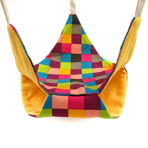 Alfie Pet by Petoga Couture - Kasey Triangular Hammock for Mouse, Chinchilla, Rat, Gerbil and Dwarf Hamster - Color Orange