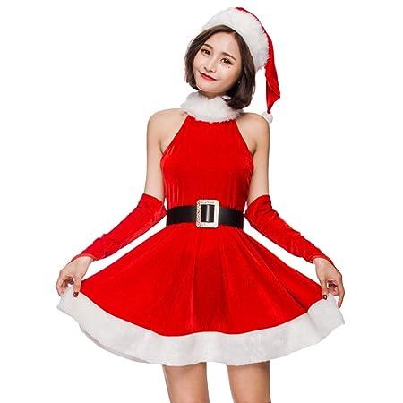QQWE Sexy Bodycon Traje De Santa Claus De Las Mujeres Fuera ...