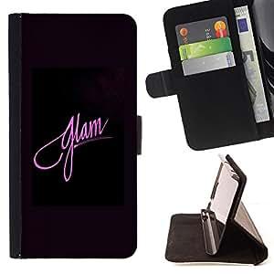 PURPLE PINK BLACK GLAM FASHION POSTER/ Personalizada del estilo del dise???¡Ào de la PU Caso de encargo del cuero del tir????n del soporte d - Cao - For Samsung Galaxy S3 III I9300
