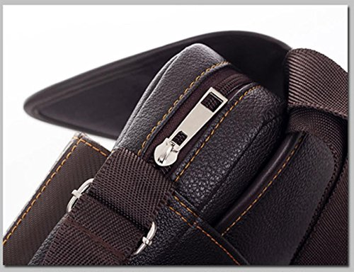 Asatr Men Casual Leather Shoulder Messenger Bag for Men Work Outdoor Crossbody Bag by Asatr (Image #4)