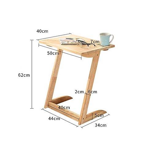 Feifei Sofá Mesa Bandeja de TV Ordenador portátil Escritorio Lateral Extraíble Snack End Table para Café
