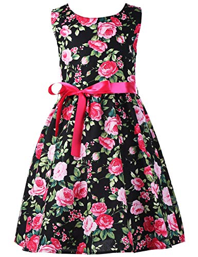 Floral Girls Dresses 7-16 Spring Dresses Clothes,C2,7-8 Years(140)]()