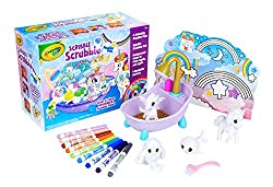 Crayola Scribble Scrubbie pets just got peculiar! These adorable, colorable and washable pet toys for kids now include a Dragon, Unicorn, Narwhal, and Yeti. This Amazon exclusive set also features a sparkle tub, 9 washable markers, a scrub brush, and...
