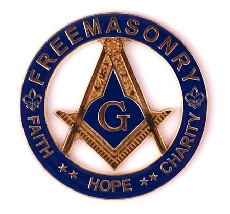 Masonic Exchange Hope Faith and Charity Auto Emblem Car Decal