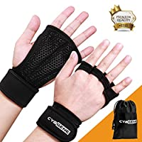 CybGene Workout Gloves, with Wrist Support, for Weight Lifting, Crossfit, Exercise, Training, Pull-up, Fitness, Powerlifting & WODs, Unisex for Men, Women