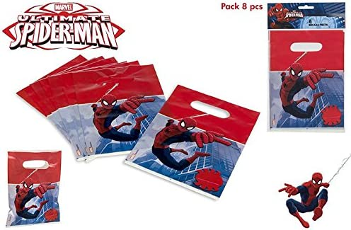 ColorBaby, 71905, Pack 8 partybags Spiderman, Pack 8 Bolsas para ...