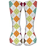 Christmas Socks Lattice Cute Casual Cotton Mens Sock For Gift Fine Fit Holiday