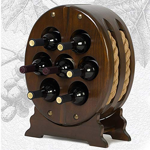 Oval Wine Rack - Xin Living Room Wine Rack, Restaurant Wine Rack, Decorative Wine Rack,Wine Racks Solid Wood Oval Wine Cooler European Retro to Ccompliment Any Space
