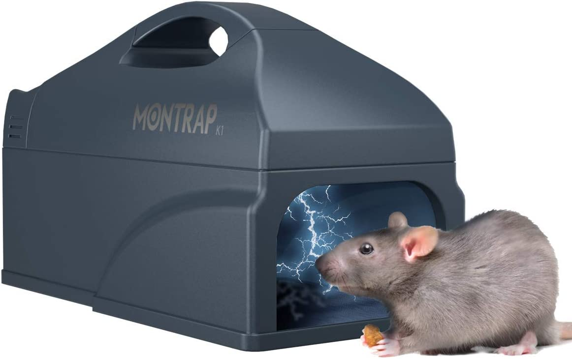 MONTRAP Electronic Rat Trap, Upgraded Indoor Rodent Zapper, Reusable Mousetrap, Smart Mouse Killer, Rats Catcher for Families, Sanitary Safe & No Touch, RK1010