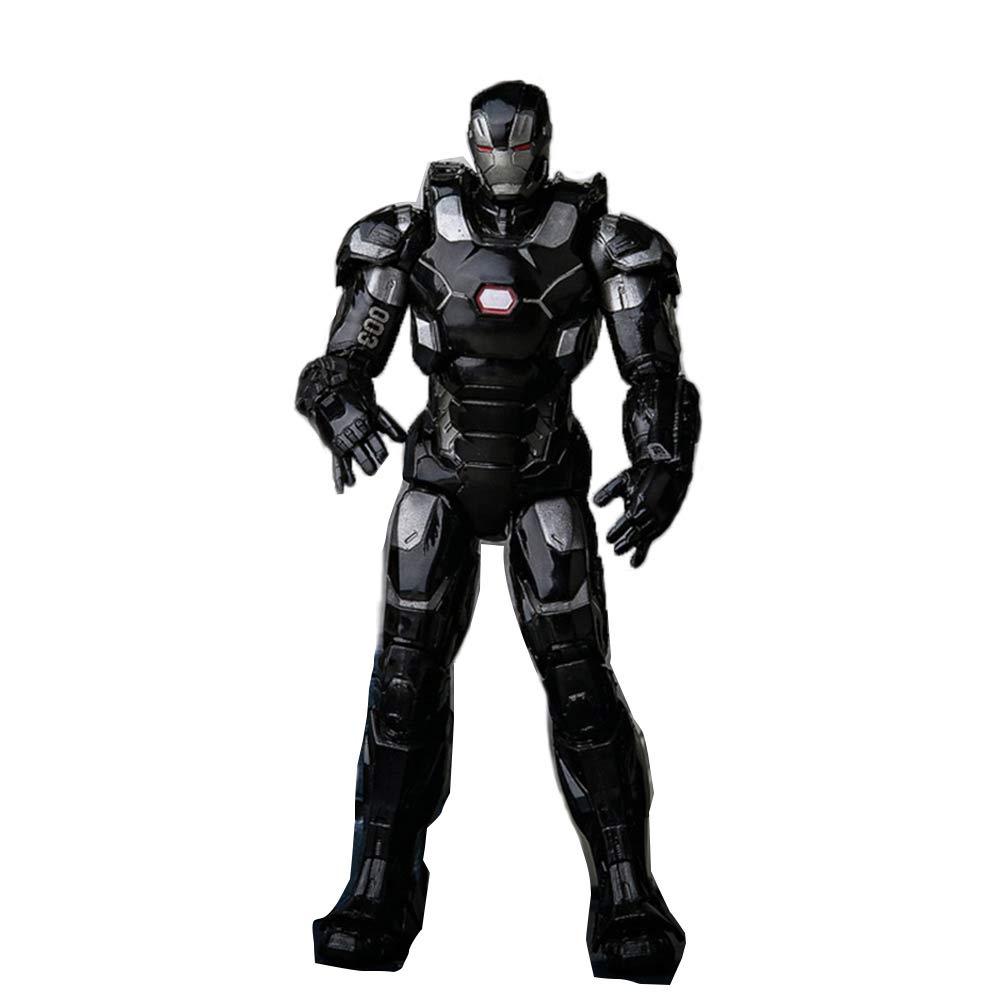 BYNNWJ Marvel nero Iron Uomo Toys, Iron Uomo Action Figure - 6.7 Pollici   17 Cm, attività Congiunta Corpo Completo - Iron Uomo Model Boy Toy