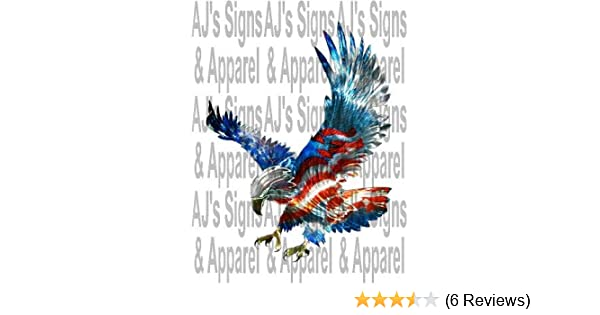Red White And Blue Eagle Decal Wwwshamstore