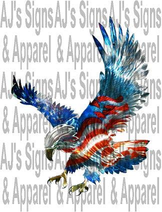 Red white and blue eagle Sticker / Decal
