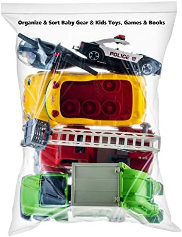 """[ 99 COUNT ] LARGE ZIP & LOCK BAGS 2 MILL 5 Gallon Storage Bags 18""""x24"""", Zip Lock, 2 Mill 99 COUNT"""