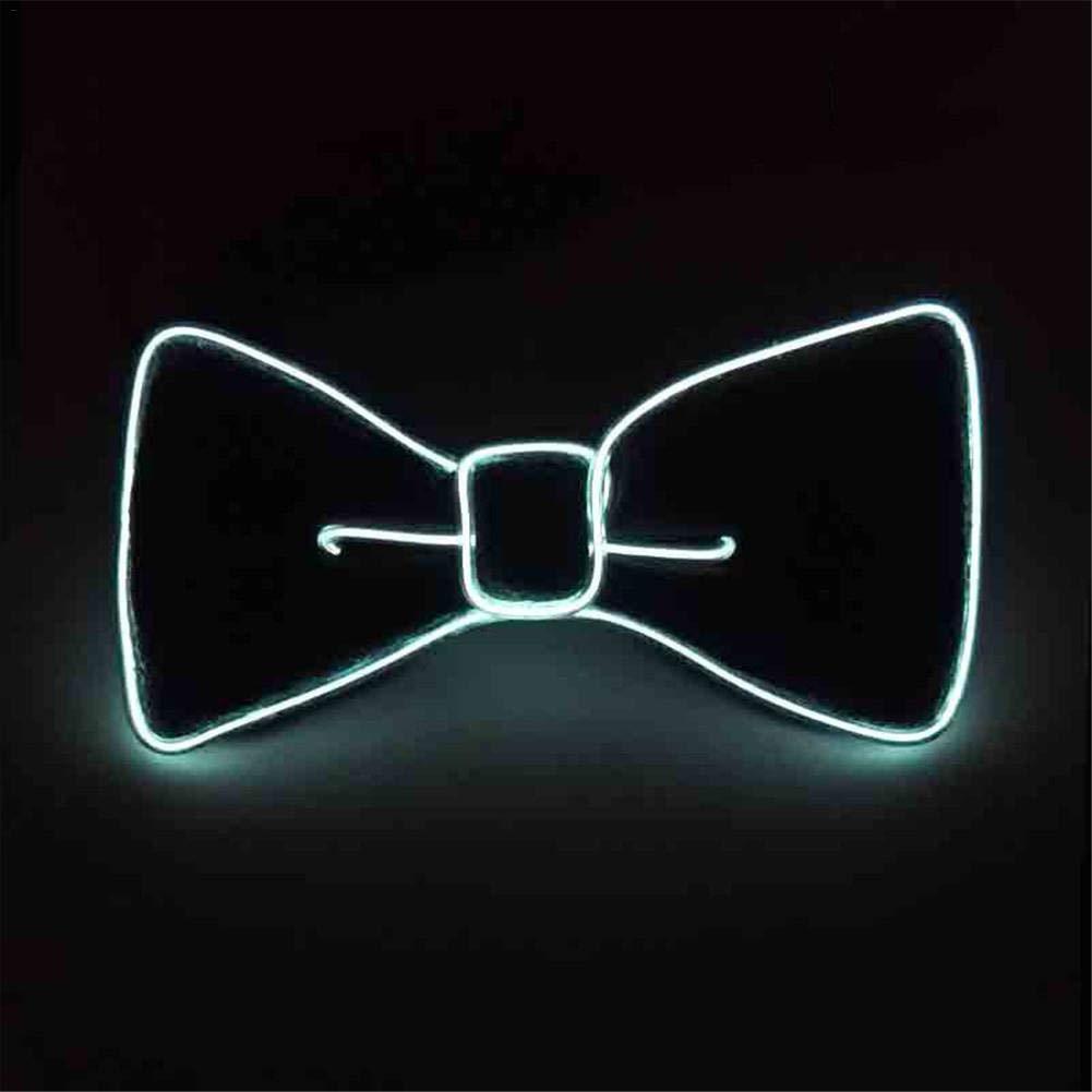 Fliege fü r Mä nner/Jungen Halloween Maskerade LED leuchtende Fliege Lustige beleuchtete Fliege fü r Neujahr/Weihnachten/Halloween-Party, blau Dream-cool