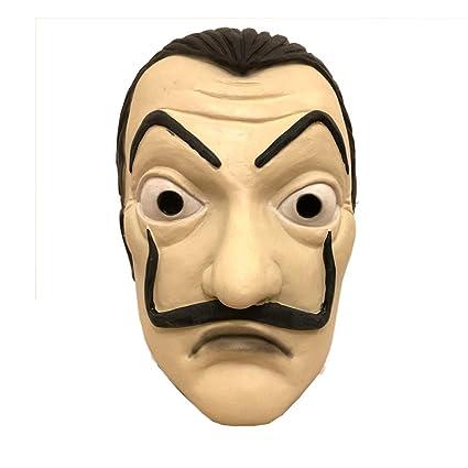 LZX Máscara De Látex La Casa De Papel Tarjeta Casa Máscara Halloween Máscara Salvador Dali