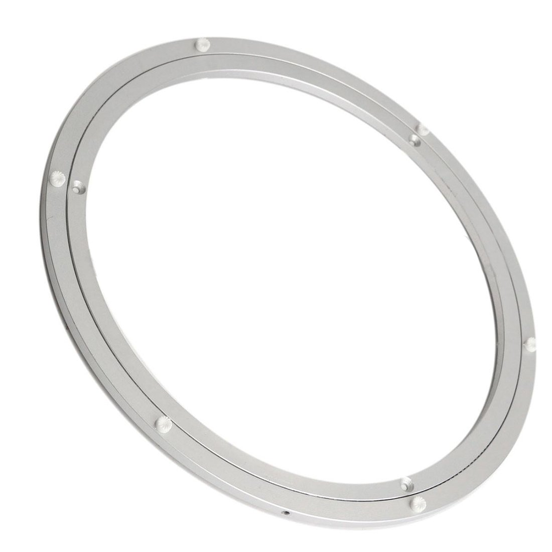 SODIAL(R) Aluminium Rotating Turntable Bearing Swivel Plate 16 Inch Silver AEQW-WER-AW124786