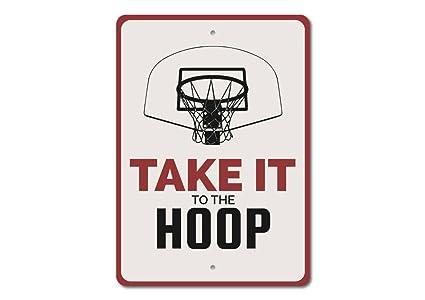 9c98004a90201 Amazon.com: Janet Carmen Personalized Hoop Sign, Basketball Hoop ...