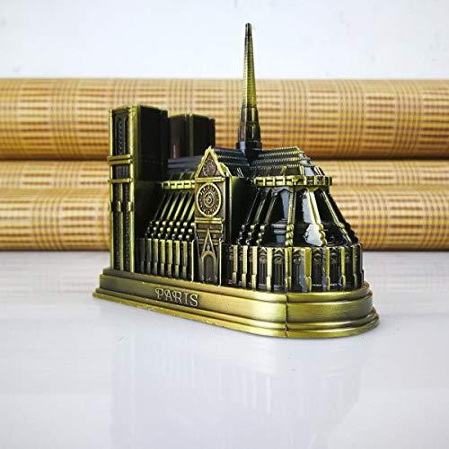 Vimbo Notre Dame de Paris Statue Desk Decoration Bookcase Adornment Study Collection Architectural Statue Souvenir Literary Gift with Gift Box (Notre Dame de Paris)