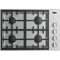 DCS CDV2-304-N 30 Drop-In Cooktop with 4 Burners Perfect Heat Easy to Clean Self-Locating Grates and 20000 BTU Max Burner Power: Stainless