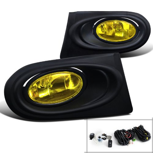 (Spec-D Tuning LF-RSX02AMOEM-RS Acura Rsx Base/Type-S Oem Style Fog Lights Amber)