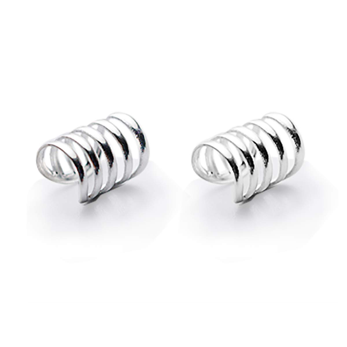 925 Sterling Silver Multi Circles Cuff Earrings for Women Teen Girls Cartilage Earrings FarryDream (Five Circle/pair)