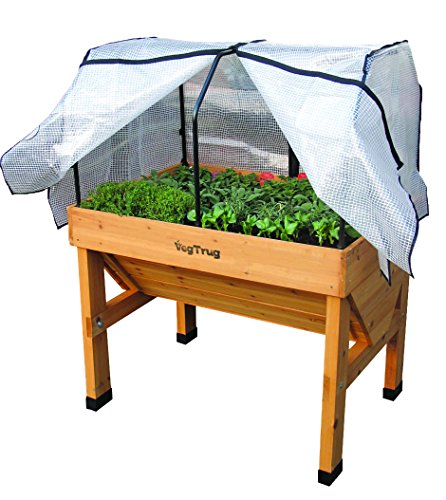 Vegtrug Small Wall Hugger Greenhouse Frame and PE Cover -