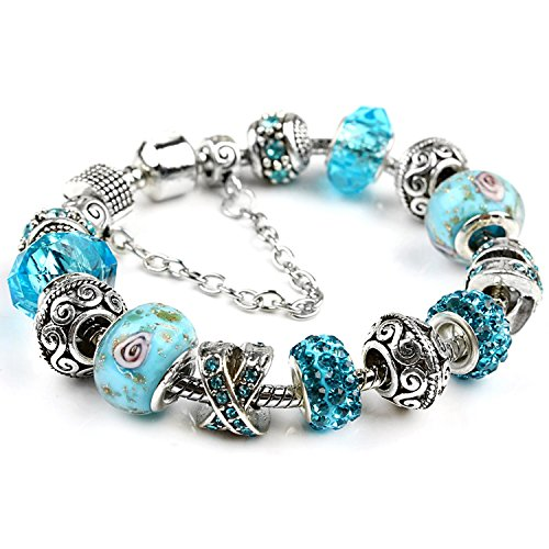 Yntmerry Boutique Hot Jewelry Crystal Bracelet Home Europe and America Ms. Bracelet Jewelry DIY Jewelry,PDR171,19cm - Nordstrom Sterling Silver Ring