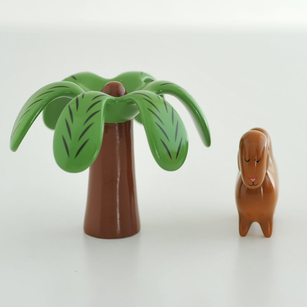 Alessi Amgi46set Dario Dromedario /& Palmita Set de deux Figurines en Porcelaine decorées à la Main